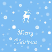 Color vector christmas reindeer — Cтоковый вектор