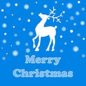 Color vector christmas reindeer — Stock Vector