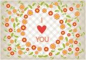 Romantic flowers frame — Stock Vector