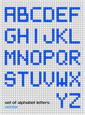 Set of bright digital alphabets — 图库矢量图片