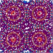Color vector mosaic tiles background — Stockvector