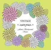 Vintage vector flowers wreath — Stock Vector