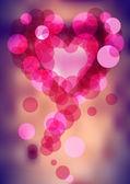 Bright bubbles heart — Stock Vector