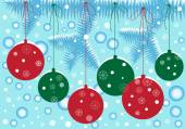 Christmas background with decorated tree — Stock Vector