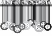 Retro circles background — Stock Vector
