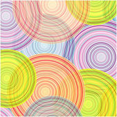 Colorful circles pattern — Stock Vector