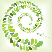 Green leaves spiral — Vector de stock