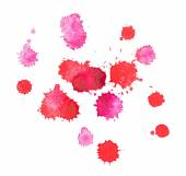 Abstract watercolor aquarelle hand drawn red drop splatter stain art paint on white background — Stock Photo