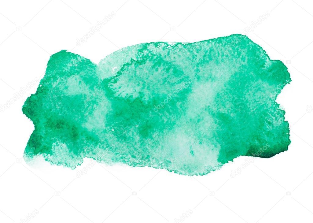 Green Watercolor Splash: Full HD Green Screen Ink Reversa