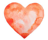 Hand draw watercolor aquarelle art paint love red heart — Foto de Stock