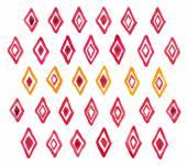 Hand draw aquarelle watercolor art paint red rhombus geometric pattern — Stock Photo
