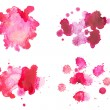 Abstract watercolor aquarelle hand drawn red blood drop splatter stain art paint on white background — Stock Photo #53332897