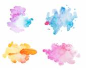 Abstract watercolor aquarelle hand drawn colorful drop splatter stain art paint on white background — Stock Photo