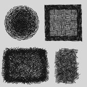 Hand drawn sketches rough hatching grunge texture. vector illustration — Stock Vector