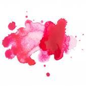 Aquarelle hand drawn red drop splatter stain art paint — Stock Vector