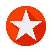 Star icon long shadow flat design vector illustration — Stock Vector