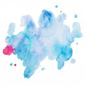 Abstract watercolor aquarelle hand drawn colorful drop splatter stain art paint on white background Vector illustration — Stock Vector
