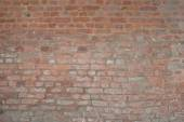 Old vintage orange red brick street rusty grunge wall texture background — Stock Photo