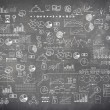 Blackboard chalkboard texture infographics collection hand drawn doodle sketch business ecomomic finance elements — Stock Photo #67934195