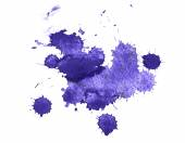 Abstract watercolor aquarelle hand drawn colorful blue art paint splatter stain on white background. — Stock Photo