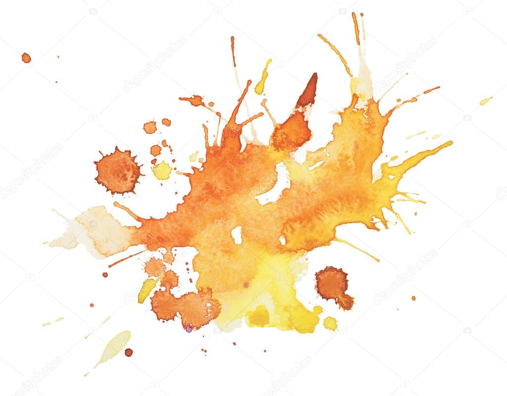 Red And Yellow Paint Spatter