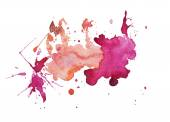 Dessinés à la main aquarelle aquarelle abstraite peinture colorée splatter tache de tache — Photo