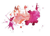 Abstract watercolor aquarelle hand drawn blot colorful paint splatter stain — Stock Photo
