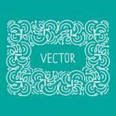 Hand drwan emblem abstract template Elegant lineart logo outline elegant calligraphic monogram. — Stock Vector