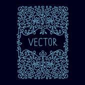 Hand drwan emblem abstract template — Stock Vector
