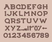 Hand drawin alphabet — Stock Vector
