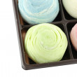 Thailand of Colorful Mochi Sweets in black box of isolated. — Stock Photo #53418285