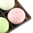 Thailand of Colorful Mochi Sweets in black box of isolated. — Stock Photo #53709813