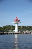 Lighthouse on coastal area. — Stock Photo
