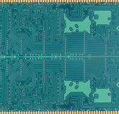 Green of electronic circuit board. — Stock fotografie