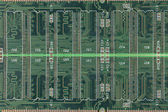 Green of electronic circuit board. — Photo