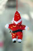 Red Santa doll. — Stock Photo