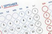 Text on calendar show in monthly. — Foto de Stock