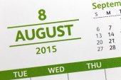 Testo su Visualizza calendario mensile del 2015. — Foto Stock