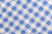 Texture blue fabric of scots pattern. — Stock Photo