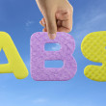 Hand arrange alphabet ABS of acronym Antilock Braking System. — Stock Photo #78976766