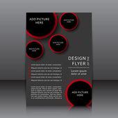 Vector design of the flyer — Vetorial Stock