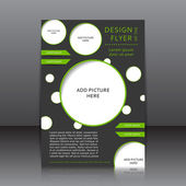 Vector design of the flyer — Stock Vector