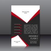 Vector design of the flyer — Vector de stock