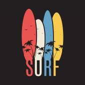 Surf illustration typography — Stock Vector