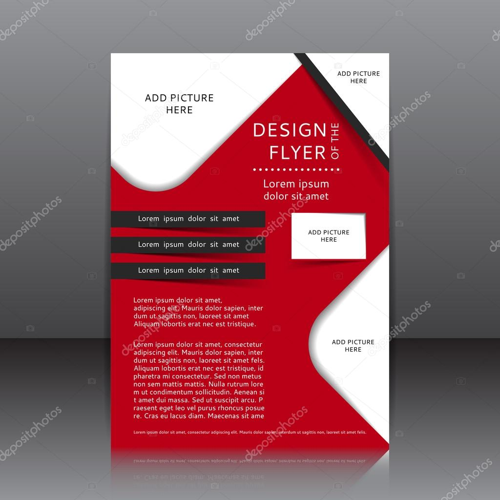 Vector design of the red flyer with black elements — Stock ...