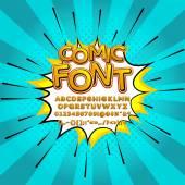 Comic pop art comic font vector illustration — Stock Vector
