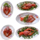 Boiled crayfish closeup. — Stock Photo
