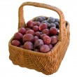 Basket with fresh plums. — Stock Photo #56476445
