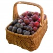 Basket with fresh plums. — Stock Photo #56476449