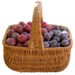 Basket with fresh plums. — Stock Photo #56481693